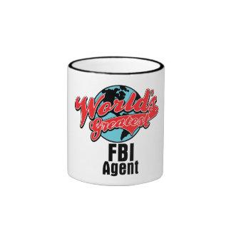 Worlds Greatest FBI Agent Ringer Coffee Mug
