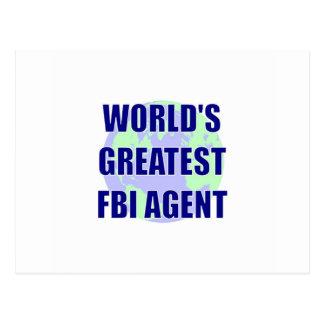 World's Greatest FBI Agent Postcard