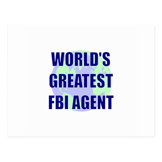 World's Greatest FBI Agent Postcard