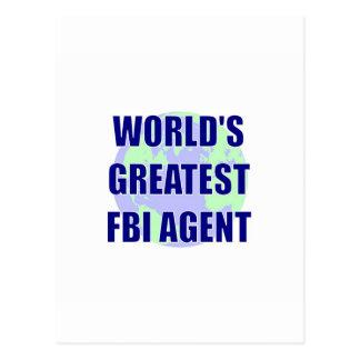 World's Greatest FBI Agent Postcards