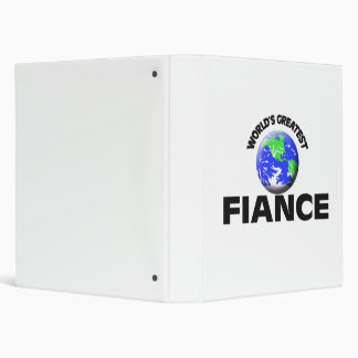 World's Greatest Fiance 3 Ring Binders