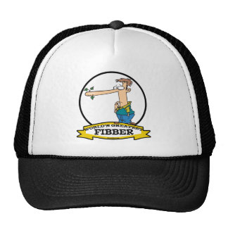 WORLDS GREATEST FIBBER MEN CARTOON TRUCKER HAT