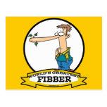 WORLDS GREATEST FIBBER MEN CARTOON POSTCARD