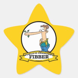WORLDS GREATEST FIBBER MEN CARTOON STAR STICKER