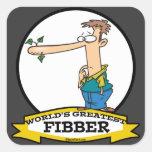 WORLDS GREATEST FIBBER MEN CARTOON STICKERS