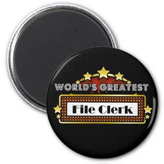World's Greatest File Clerk Fridge Magnets