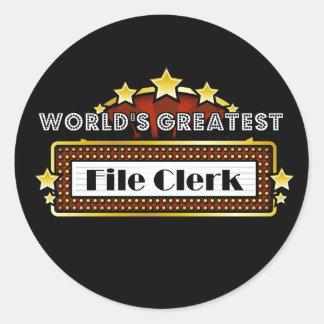 World's Greatest File Clerk Stickers