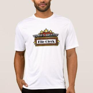 World's Greatest File Clerk T-shirt