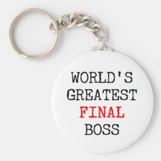 World's Greatest Final Boss Keychain