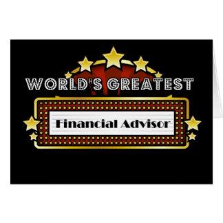 World's Greatest Financial Advisor Card