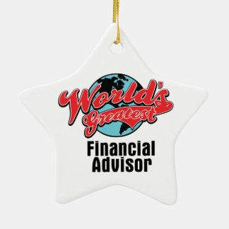Worlds Greatest Financial Advisor Ceramic Ornament
