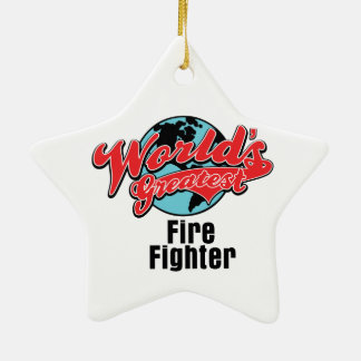Worlds Greatest Fire Fighter Christmas Ornament