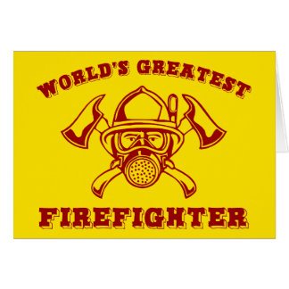 World's Greatest Firefighter Card