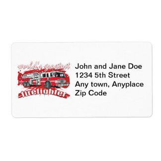 World's Greatest Firefighter Label
