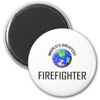 World's Greatest Firefighter 2 Inch Round Magnet