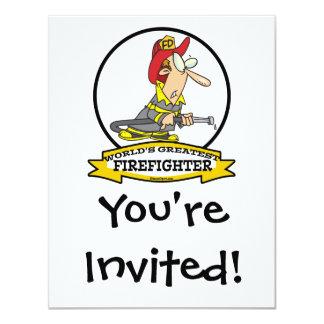 WORLDS GREATEST FIREFIGHTER MEN CARTOON CARD