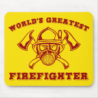 World's Greatest Firefighter Mouse Pad
