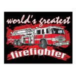 World's Greatest Firefighter Post Cards