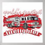 World's Greatest Firefighter Poster