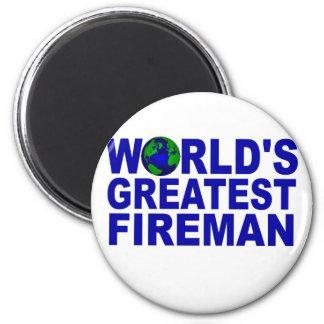 World's Greatest Fireman 2 Inch Round Magnet