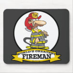 WORLDS GREATEST FIREMAN II MEN  CARTOON MOUSEPADS