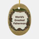 Worlds Greatest Fisherman Christmas Ornament