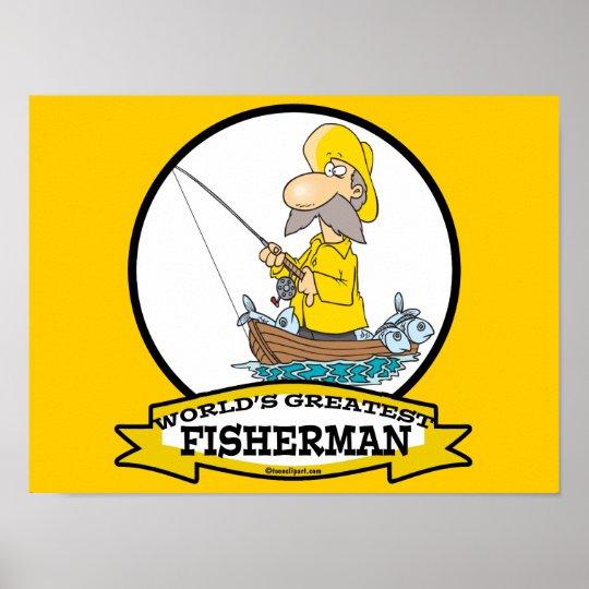 WORLDS GREATEST FISHERMAN MEN CARTOON POSTER