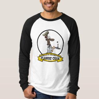 WORLDS GREATEST FLAMBE COOK CHEF MEN CARTOON TEES