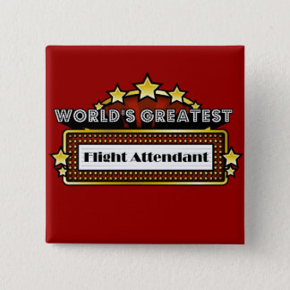World's Greatest Flight Attendant Button