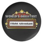 World's Greatest Flight Attendant Dinner Plate