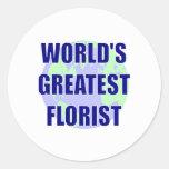 World's Greatest Florist Round Sticker