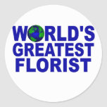 World's Greatest Florist Round Stickers