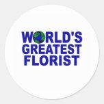 World's Greatest Florist Stickers