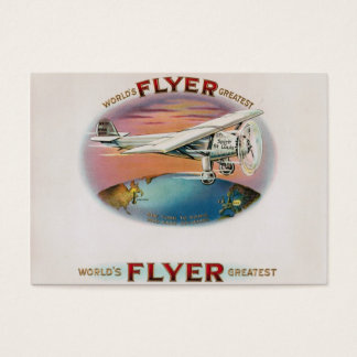 World's Greatest Flyer Vintage Golden Age Aviator Business Card