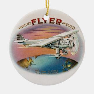 World's Greatest Flyer Vintage Spirit of St. Louis Ceramic Ornament