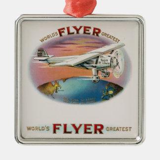 World's Greatest Flyer Vintage Spirit of St. Louis Metal Ornament