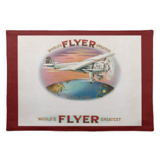 World's Greatest Flyer Vintage Spirit of St. Louis Cloth Placemat