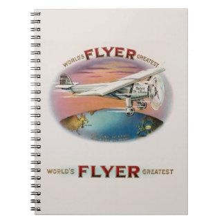 World's Greatest Flyer Vintage Spirit of St. Louis Spiral Notebook
