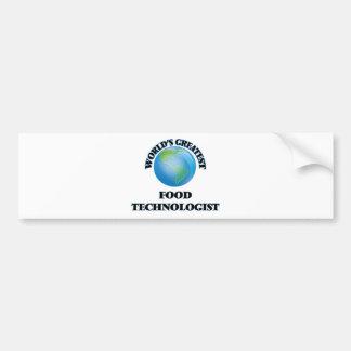 World's Greatest Food Technologist Car Bumper Sticker