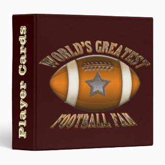 World's Greatest Football Fan Player Cards Binder