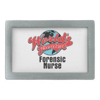 Worlds Greatest Forensic Nurse Rectangular Belt Buckles