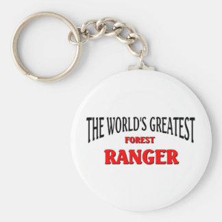 World's Greatest Forest Ranger Basic Round Button Keychain