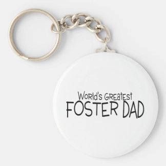Worlds Greatest Foster Dad Keychain