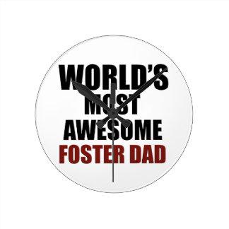 World's Greatest Foster dad Round Clock
