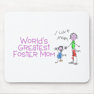 Worlds Greatest Foster Mom Mouse Pad