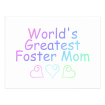 Worlds Greatest Foster Mom (Pastel) Postcard