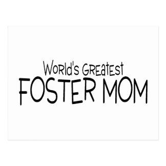 Worlds Greatest Foster Mom Postcard