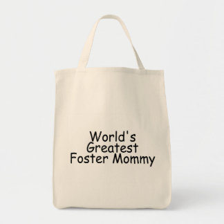 Worlds Greatest Foster Mommy Black Tote Bag