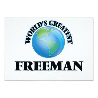 World's Greatest Freeman 5x7 Paper Invitation Card