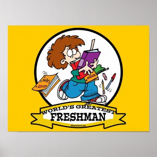 WORLDS GREATEST FRESHMAN BOY CARTOON POSTERS